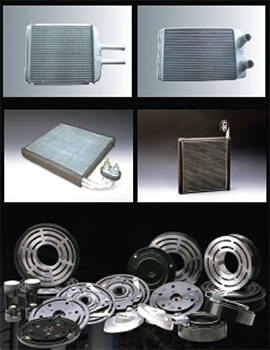 Automotive-heat-exchangers,-compressor-parts