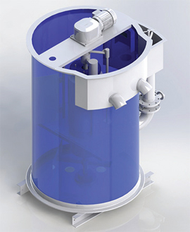 Disk-type-sludge-thickener