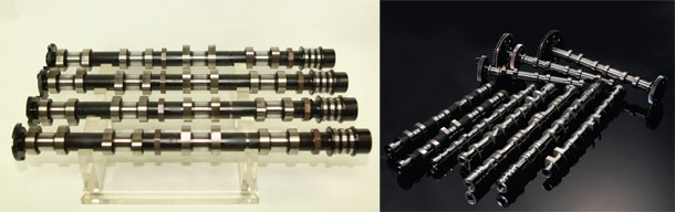 Powder-metal-assembled-camshaft
