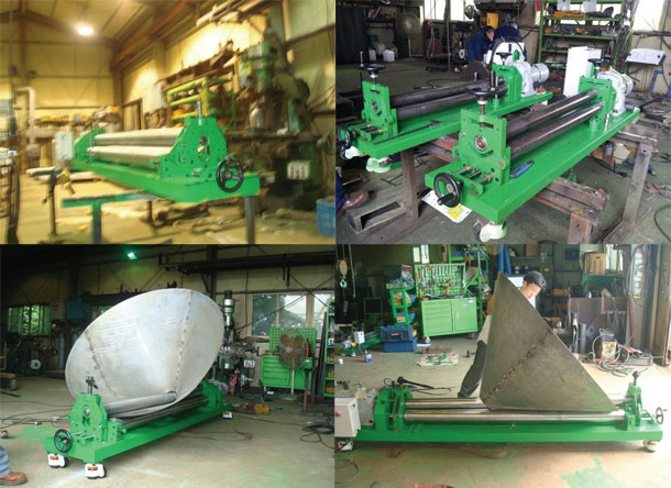 Roll-bending-machine