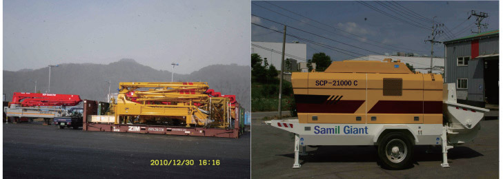Construction Equipment for Concrete Movement and Pumping