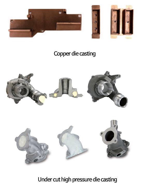 Copper & Under Cut Die Castings